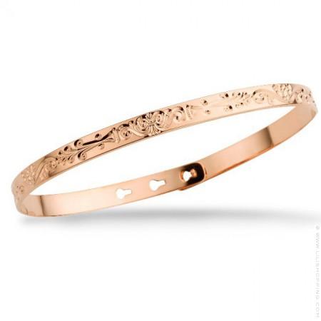 Arabesque pink gold platted bracelet