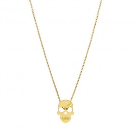 Collier Skully plaqué or