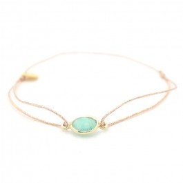Amazonite gold plated cabochon bracelet