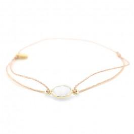 gold plated cabochon bracelet