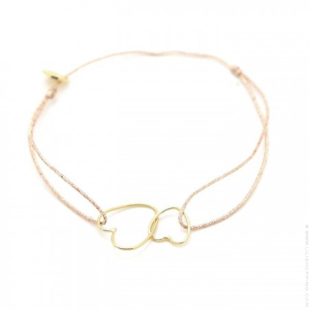 Gold plated double hearts Bracelet