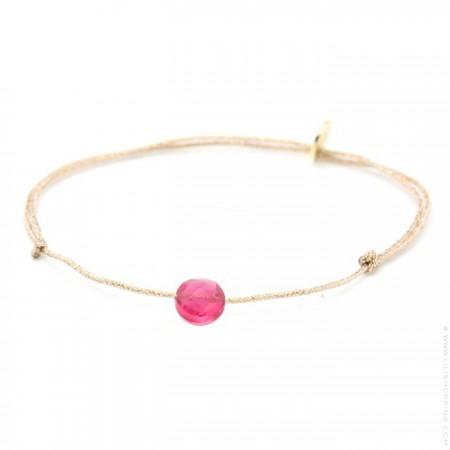Bracelet briolette hydro tourmaline sur lien lurex