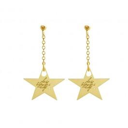 Boucles d'oreilles Star plaquées or