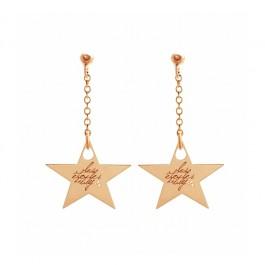 Boucles d'oreilles Star plaquées or rose