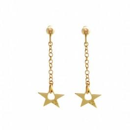 Boucles d'oreilles little Star plaquées or