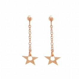 Boucles d'oreilles little Star plaquées or rose