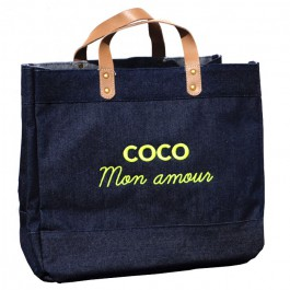 Le Mademoiselle bag Coco mon amour gold glitter