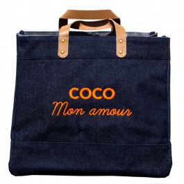 Le Mademoiselle bag Coco mon amour neon yellow