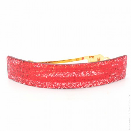 Glitter red large hair clip