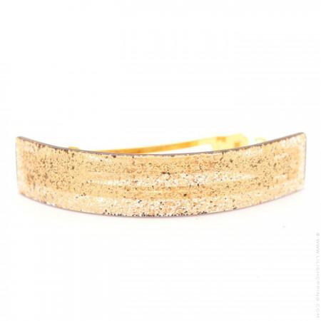 Glitter gold large hair clip
