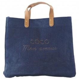 Le Mademoiselle bag Coco mon amour black glitter