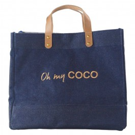 Cabas Le Mademoiselle denim Oh my Coco gold