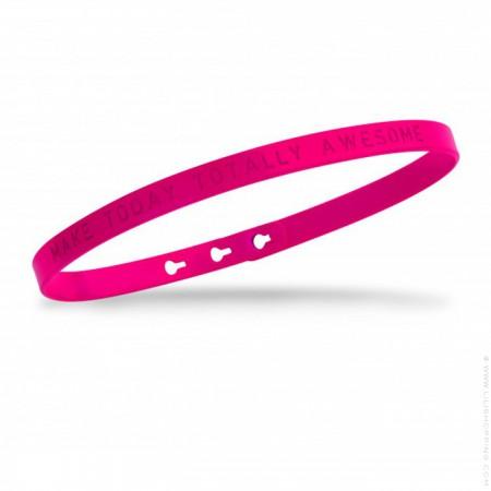 Fuchsia Make today totally awesome Bracelet