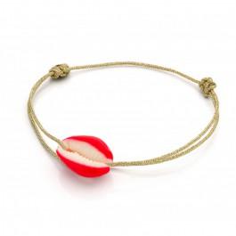 Bracelet cordon Celestun rouge