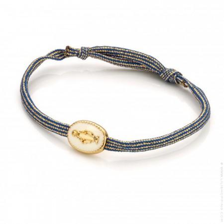 Bracelet cordon Madonna ivoire