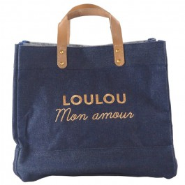 Le Mademoiselle bag Loulou mon amour gold glitter