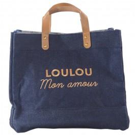 Le Mademoiselle bag Loulou mon amour gold glitter