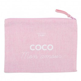 Coco mon amour pink pouch