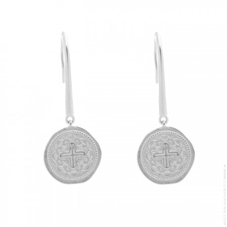 Silver Celeste earrings