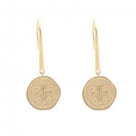 Boucles d'oreilles Croissant de lune perlé plaquée or