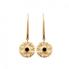 Boucles d'oreilles Amazonia plaquée or