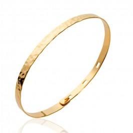 Gold platted hammered bracelet