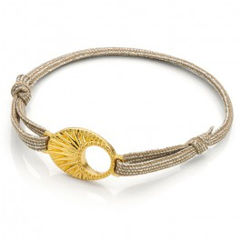 Gold plated raindrop bracelet