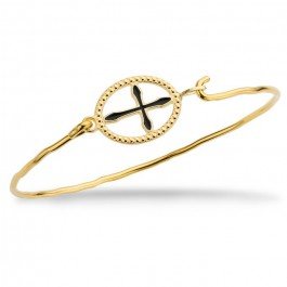 Barcelona cross gold platted bracelet