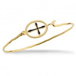 Bracelet Croix Barcelona plaqué or