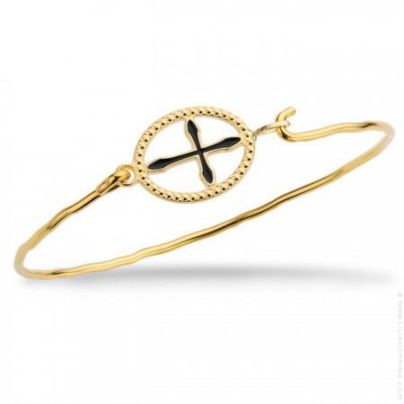 Bracelet Croix Girona plaqué or
