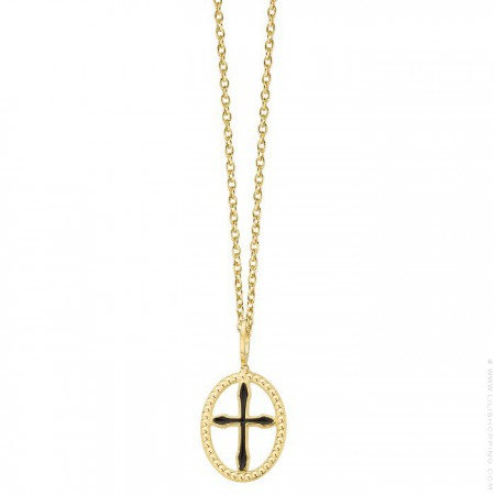 Gold plated Girona cross necklace