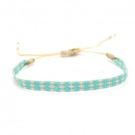 Argentinas beige and turquoise bracelet