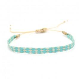 Bracelet Argentinas lin et turquoise
