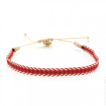 Argentinas red and burgundy bracelet