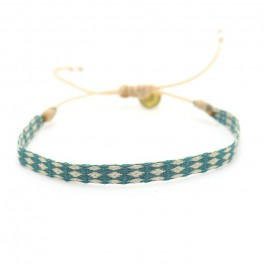 Argentinas beige and duck blue bracelet