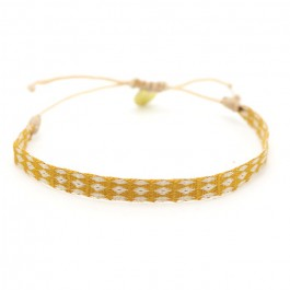 Argentinas beige and saffron bracelet