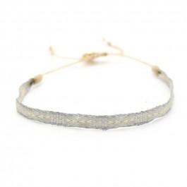 Argentinas beige and silver bracelet
