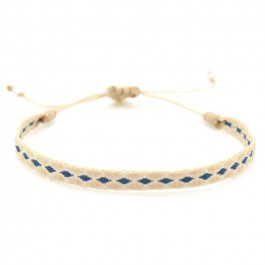 Argentinas beige and blue bracelet