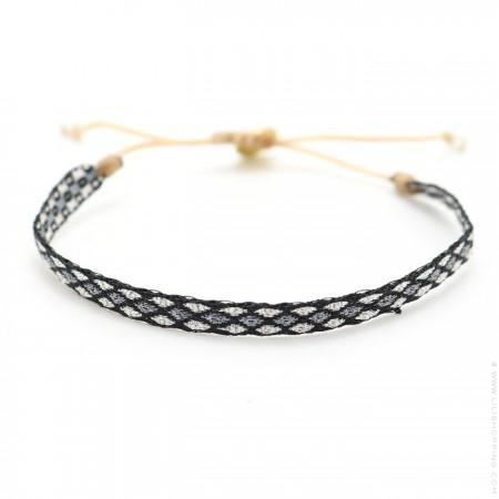 Bracelet Argentinas noir, gris et argent
