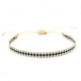 Argentinas black grey beige bracelet