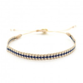 Argentinas blue and beige bracelet