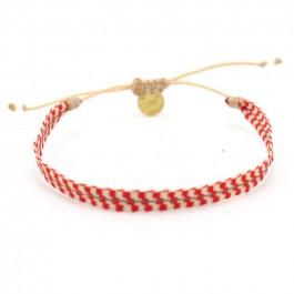 Bracelet Argentinas beige et corail