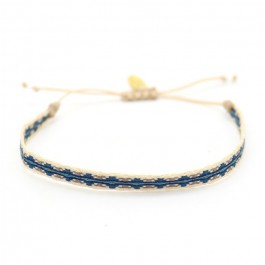 Argentinas blue and linen bracelet