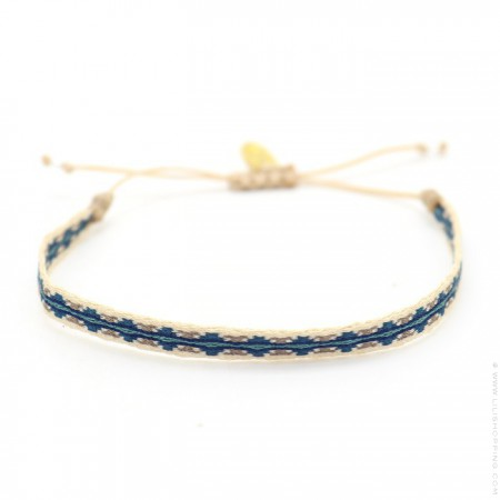 Argentinas blue and linen bracelet