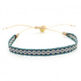 Bracelet Argentinas bleu et vert canard