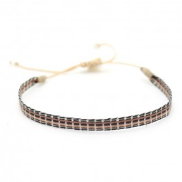 Argentinas black and brown bracelet