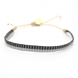 Argentinas black and grey bracelet