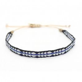 Bracelet Argentinas noir, argent et bleu