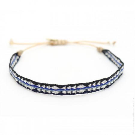 Argentinas black blue and grey bracelet