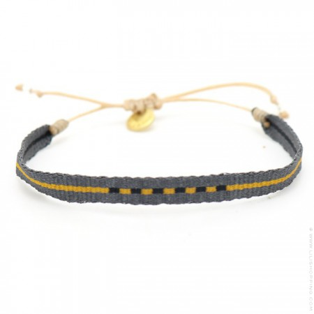Argentinas grey and yellow bracelet